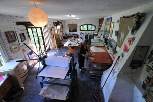 Maureen at work in her studio