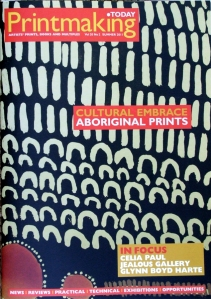 "Cover of the summer 2011 issue of ""Printmaking Today"""