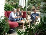 A tea break between takes with Juan Carlos and his wife, María José