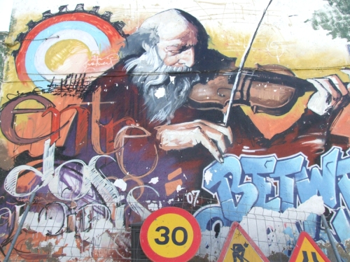 El Niño de las Pinturas, grafitti in Granada