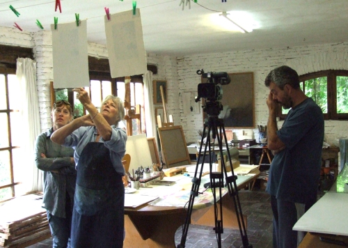 "The making of Maureen Booth's ""Printmaking Master Classes"" videos"