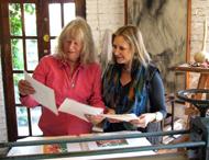 Lorna and Maureen in the studio