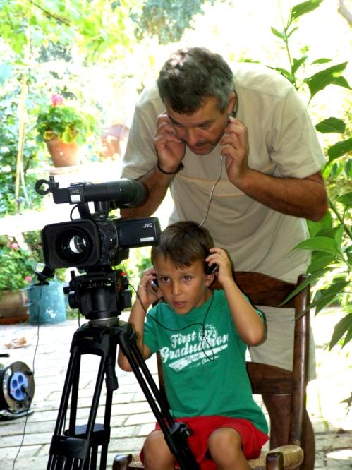 Juan Carlos with his assistant director, Mario
